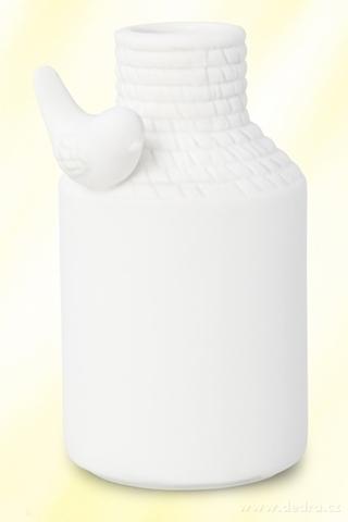 DA89112-Porcelánová váza s aplikáciou Vtáky menšou