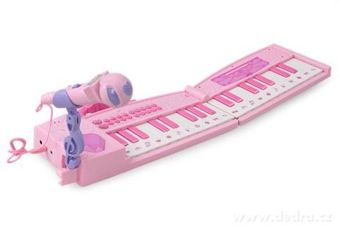 DA89703-Elektronické klávesy s mikrofónom