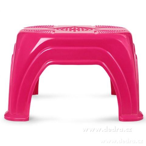 DA89761-Štokrdle ružové univerzálna stolička z kvalitného plastu