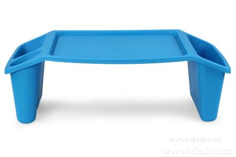 DA89822-Gaučostolek & postelostolek modrý prenosný stolík