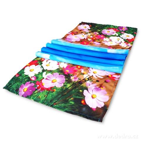 DA89921-Kvetinový behúň na stôl lúčne kvety 40 x 150 cm