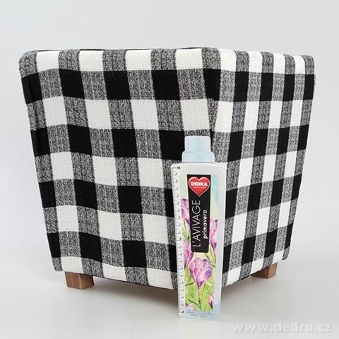DA9056-Taburet čierno-biele kocky
