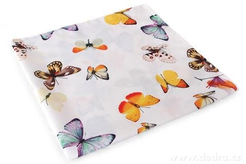 DA90591-Obrus s motýľmi 85x85 cm