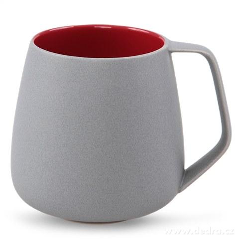 DA81003-BALI CERAMICS hrnček sivý / vínový