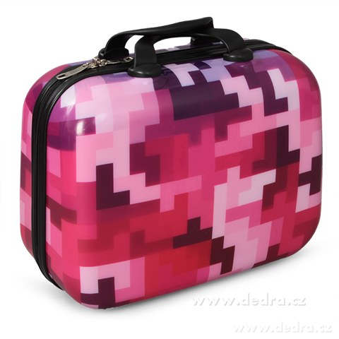 FC84881-Kufor príručný menšie pink tetris 32 x 14 x 24 cm