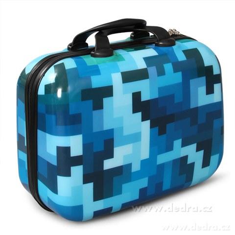 FC84891-Kufor príručný menšie blue tetris 32 x 14 x 24 cm
