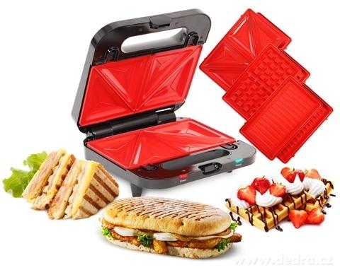 EL9147-4v1 sendvičovač, vaflovač, gril, panini GRIFLOVAČ SYSTEMAT