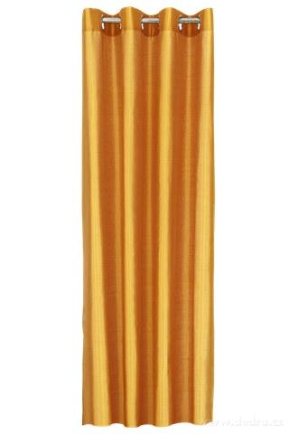 DA91516-Záves z nepriehľadnej tkaniny pomarančový
