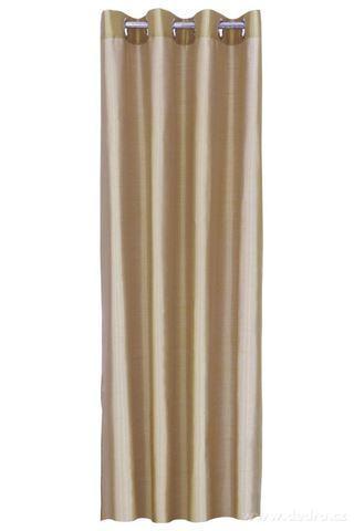 DA91518-Záves z pevnej nepriehľadnej tkaniny, zlato medený