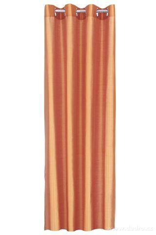 DA91523-Záves z nepriehľadnej tkaniny tmavo lososový