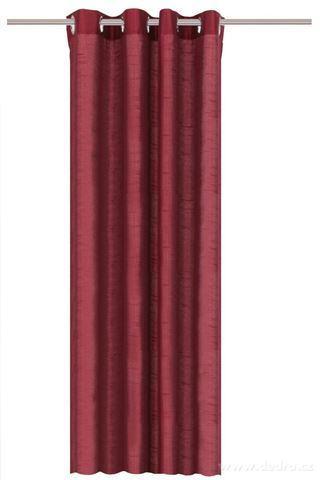 DA91526-Záves z pevnej nepriehľadnej tkaniny, bordová