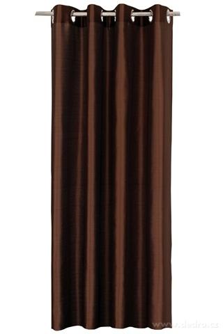 DA91529-Záves z pevnej nepriehľadnej tkaniny, horká čokoláda