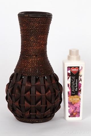 DA90713-Váza z bambusové dyhy a prútia 38 cm