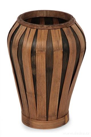 DA91661-Váza z bambusové dyhy prírodná hnedá
