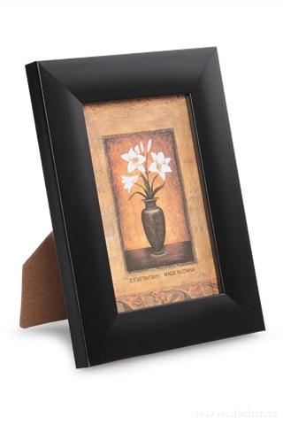 DA91941-Drevený fotorámček čierny na foto 9 x 13 cm