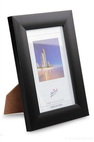 DA91942-Drevený fotorámček čierny na foto 10 x 15 cm