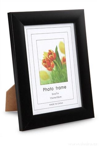 DA91943-Drevený fotorámček čierny na foto 13 x 18 cm