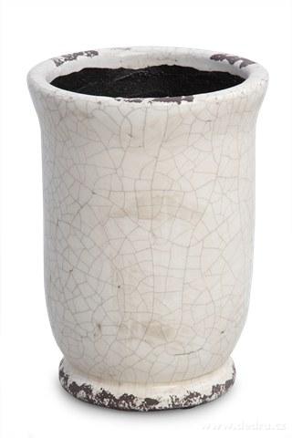 DA9283-Keramický obal na kvetináč alebo váza výška 19,5 cm