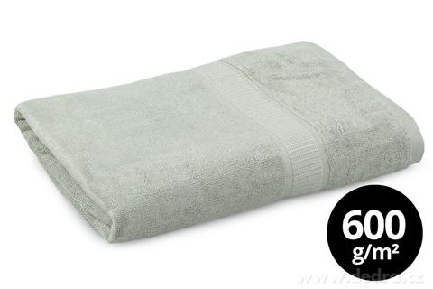 FC93193-BAMBOO osuška s elegantnou bordúrou olivová
