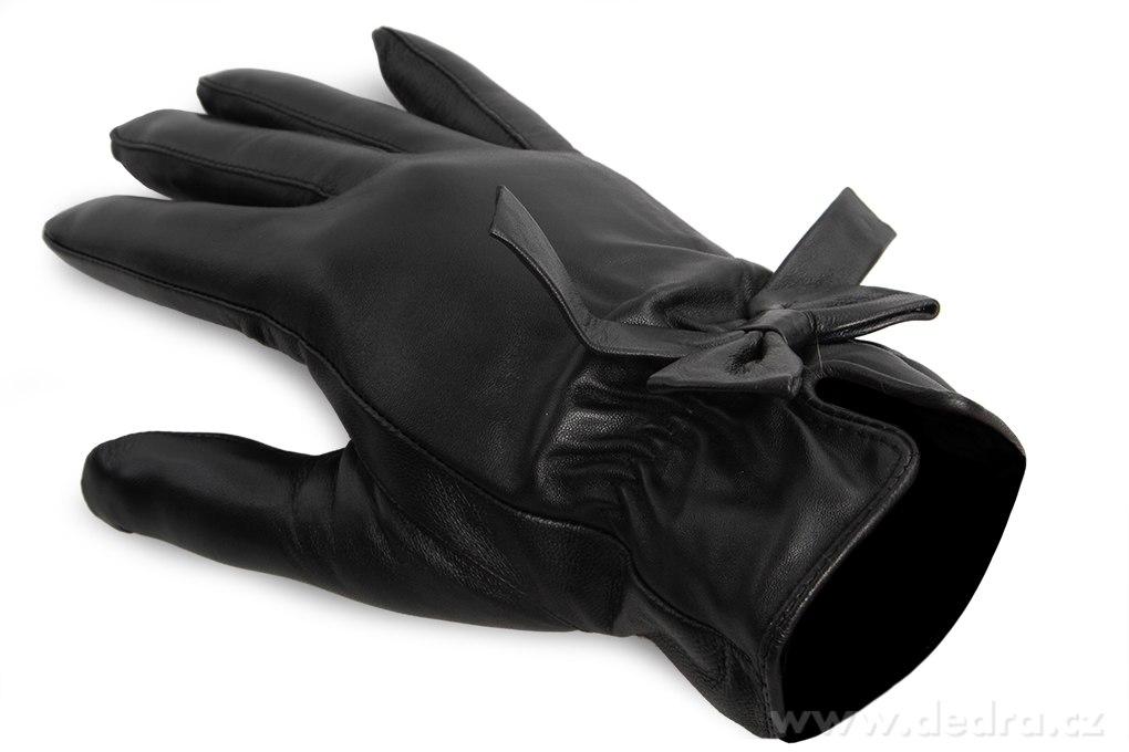 ddfa3f3ba85 ELINA dámské rukavice elegantní kožené s mašlí - Vaše DEDRA - oficiální  stránky