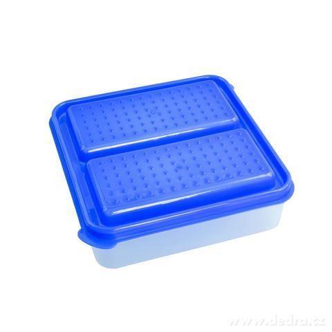 DA94042-DUOBOX 2in 1  500 + 500 ml dóza na potraviny, modrý