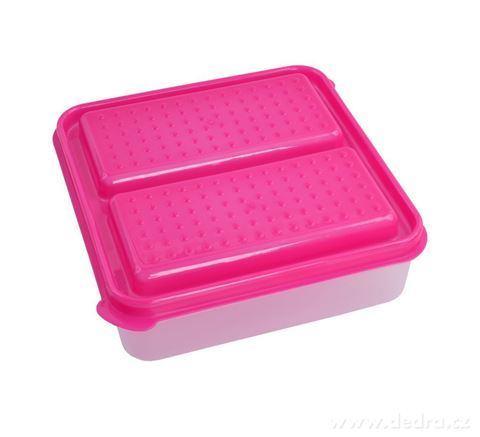 DA94043-DUOBOX 2in 1 500 + 500 ml dóza na potraviny, ružový