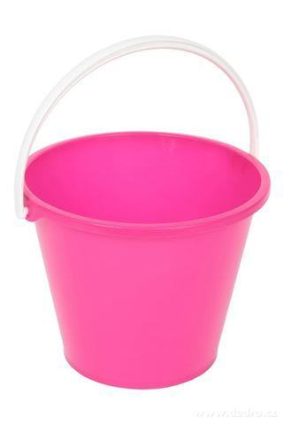 DA94573-Veľký vedro objem 10 litrov ružový
