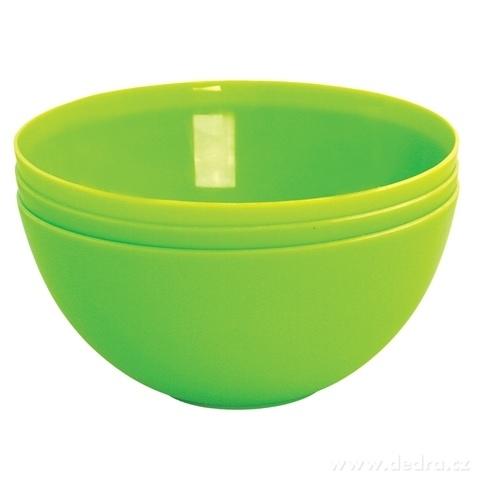 DA94261-3 ks MISKA 900 ml z odolného plastu zelenej