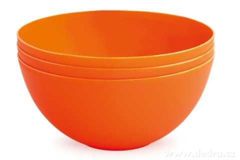 DA94264-3 ks MISKA 900 ml z odolného plastu oranžovej