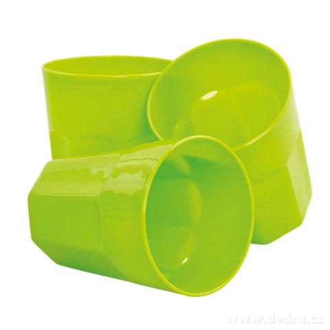 DA94371-3 ks OHNISKOVEJ NÁDOBKY 350 ml z odolného plastu zelený