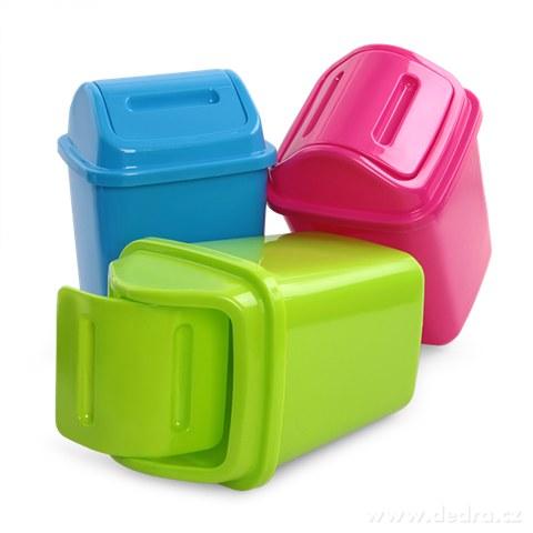 DA94411-KÔŠ na odpadky s výklopným vekom cca 5 L, zelený