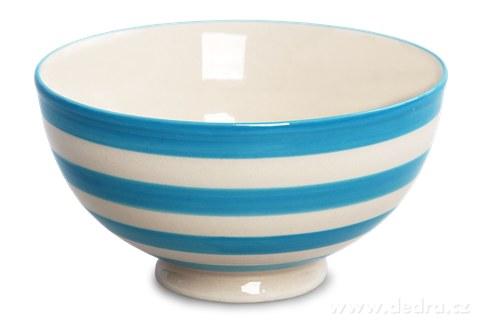 DA93762-Keramická miska 250 ml STRIPES & DOTS modré pruhy