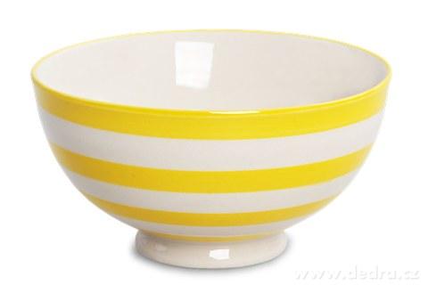 DA93732-Keramická miska 250 ml STRIPES & DOTS žlté pruhy