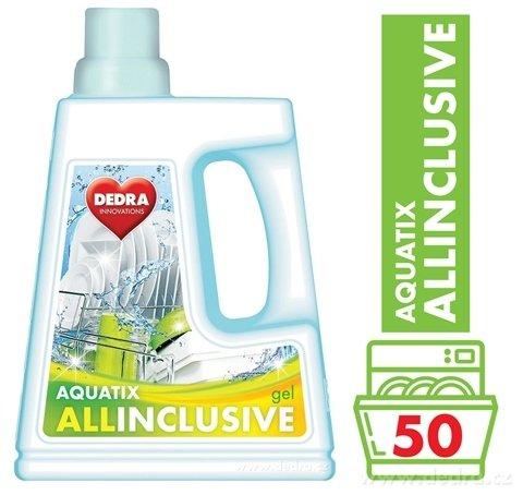 GC0456-AQUATIX ALLINCLUSIVE gél do umývačky 1500 ml 50 umývacích cyklov