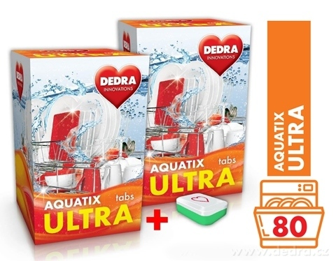 GC04573-AQUATIX ULTRA 80 TABS tablety do umývačky