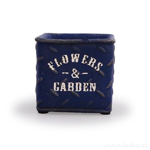 DA97871-Kameninový kvetináč FLOWERS & GARDEN námornej modrý