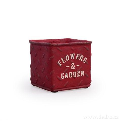 DA97874-Kameninový kvetináč FLOWERS & GARDEN tehlovo červený