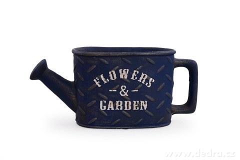 DA97881-Kameninový kvetináč FLOWERS & GARDEN námornej modrý