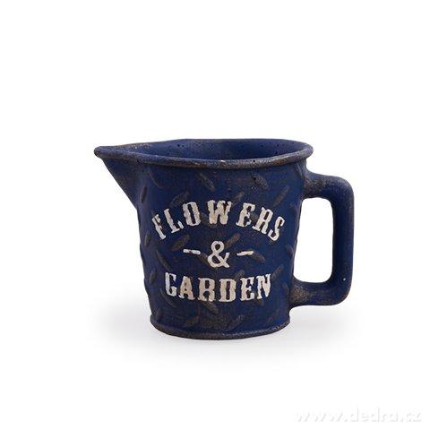 DA97891-Kameninový kvetináč FLOWERS & GARDEN námornej modrý