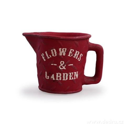 DA97894-Kameninový kvetináč FLOWERS & GARDEN tehlovo červený
