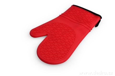 DA98233-SILICHŇAPKA silikónová chňapka červená