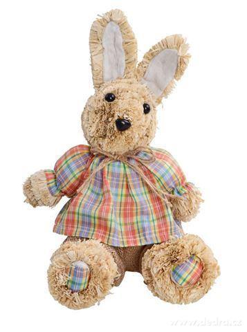 DA9737-24 cm zajac z prírodnej slamy sediaci dekorácie