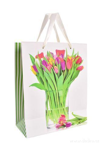 DA99852-Darčeková taška s tulipánmi