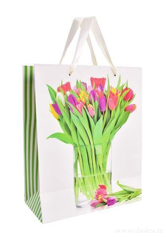 DA99853-Darčeková taška s tulipánmi