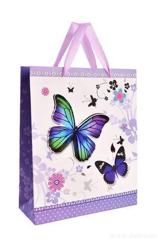 DA99821-3D darčeková taška s plastickým motívom motýľa
