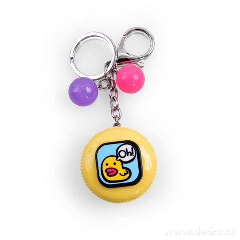 DA98797-PRÍVESOK makrónky na kabelku či kľúče žltá s kačičkou