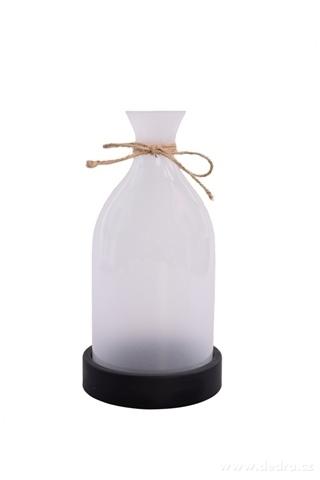 DA98641-27 cm veľký svietnik v tvare vázy biely