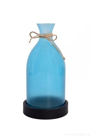 DA98644-27 cm veľký svietnik v tvare vázy tyrkysový