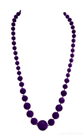DA99591-Zamatové korále fialové