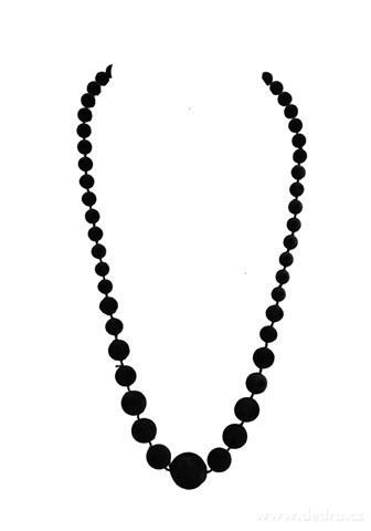 DA99593-Zamatové korále čierne
